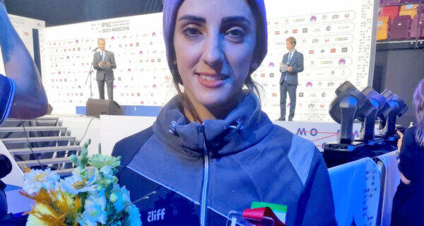 سنگنورد دختر ایرانی مدال برنز جهان را به گردن آویخت