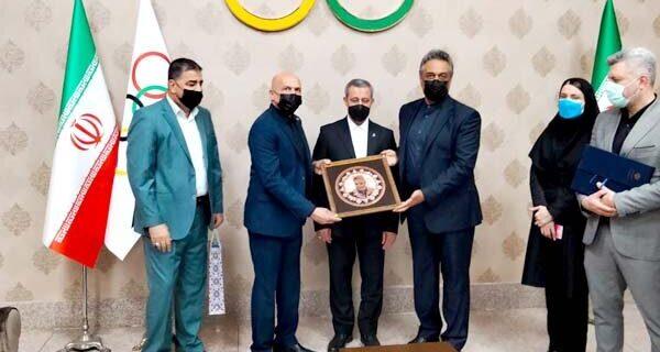 دیدار روسای فدراسیون اسکواش ایران و عراق با دبیرکل کمیته المپیک