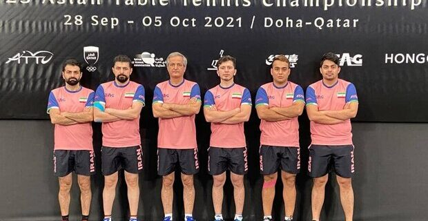 پنجمی ایران در تنیس روی میز قهرمانی آسیا