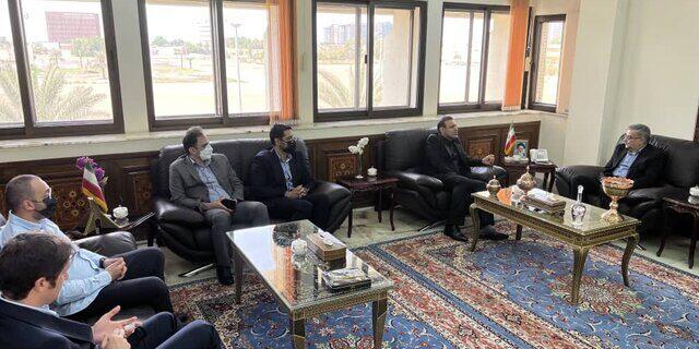 دیدار رییس نمایندگی ایران در امارات با رئیس فدراسیون فوتبال